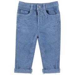 Pantalon en velours milleraies à poches