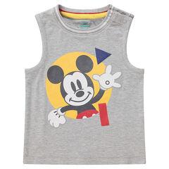 Débardeur en jersey chiné avec Mickey ©Disney printé