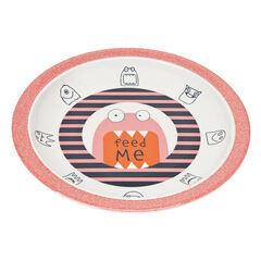 Assiette mélamine/silicone Little Monsters - Mad Mabel  , Lassig