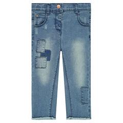 Jeans avec patchs
