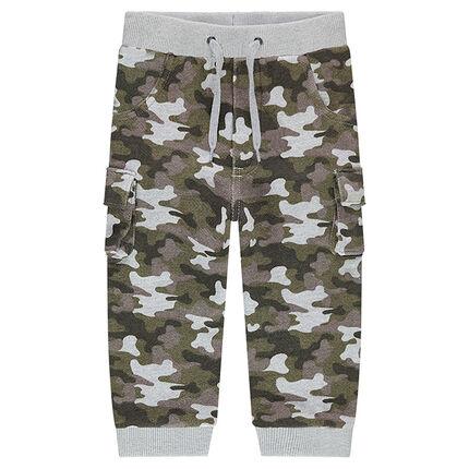 Pantalon de jogging en molleton motif army all-over
