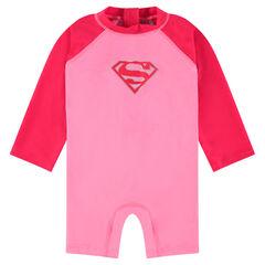 Combinaison de bain anti-UV print DC Comics Supergirl