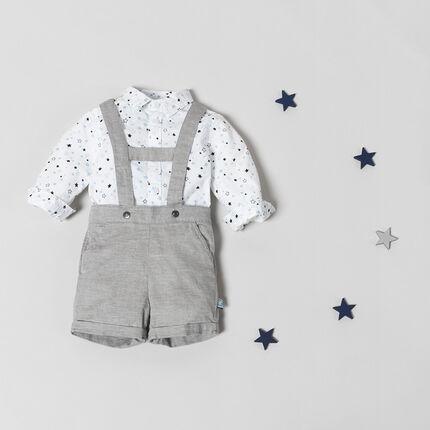 Ensemble avec chemise imprimée étoiles et salopette short