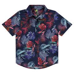Chemise manches courtes avec imprimé floral