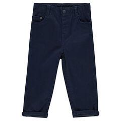 Pantalon en twill uni
