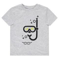 Tee-shirt manches courtes avec masque et tuba printés