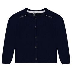 Gilet en tricot avec effet de coudières au dos