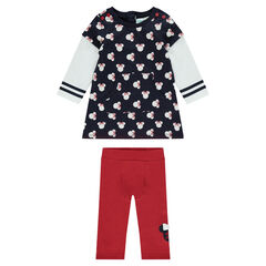 Ensemble robe molleton effet 2 en 1 et legging Disney Minnie