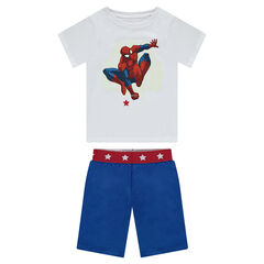 Pyjama court en jersey print Marvel Spiderman phosphorescent