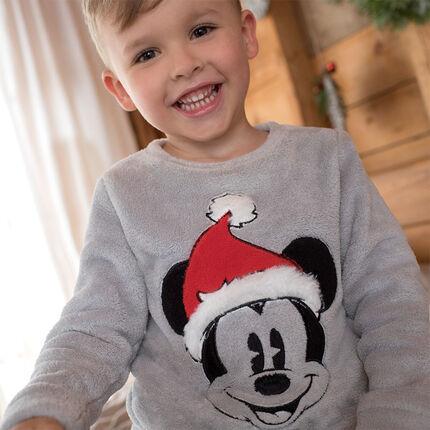 Pyjama en sherpa ©Disney avec Mickey brodé esprit Noël
