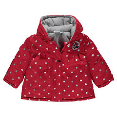 19395fc7b4284 Parka à pois argentés all-over Disney Minnie