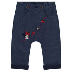 Pantalon en chambray Disney avec broderies Minnie