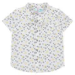 Chemise manches courtes avec étoiles imprimée all-over