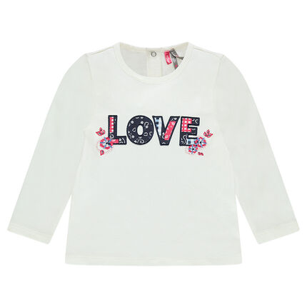 "Tee-shirt manches longues avec patch ""LOVE"""