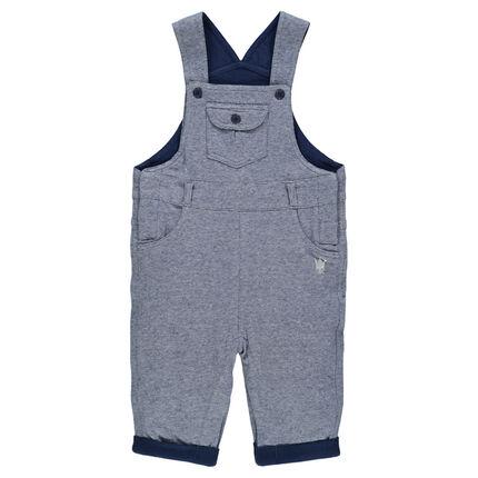 Salopette en jersey contrecollé avec doublure imprimée