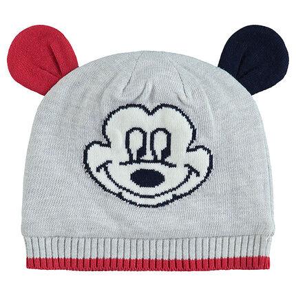 Bonnet en tricot Mickey Disney à oreilles en relief