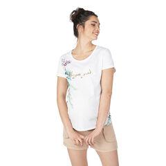 Tee-shirt manches courtes de grossesse avec imprimé floral