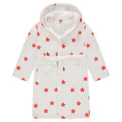 Junior - Peignoir à capuche avec étoiles all-over