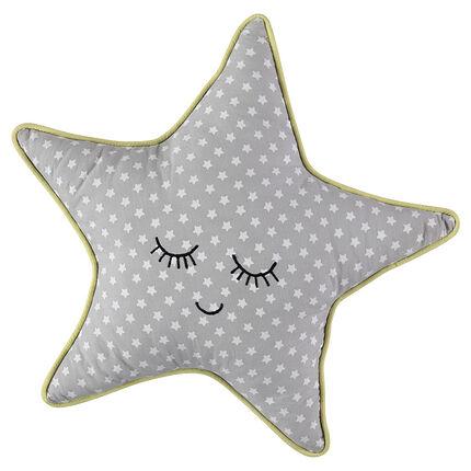 Coussin forme étoile imprimé étoiles all-over