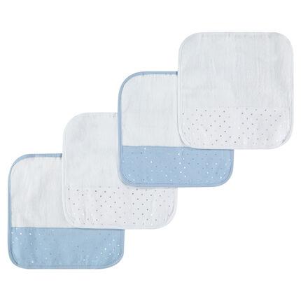 Set de 4 serviettes pour la bouche