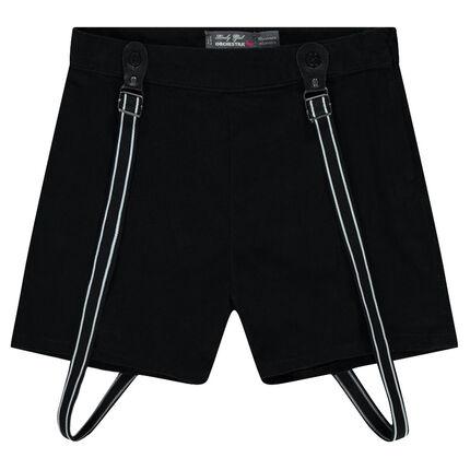 Junior - Short large esprit jupe-culotte à bretelles
