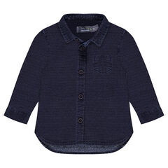 Chemise manches longues en coton fantaisie