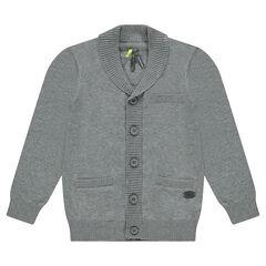 Gilet en tricot à poches
