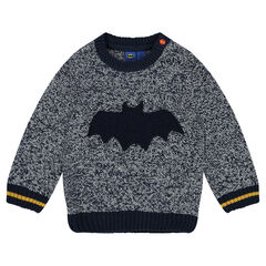 Pull en tricot fantaisie avec badge BATMAN