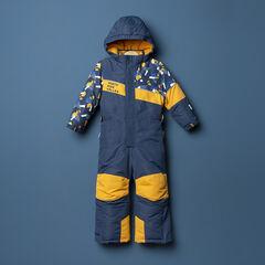 Combinaison de ski à imprimé placé et poches zippées