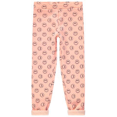 Legging doublé sherpa primé Smiley all-over