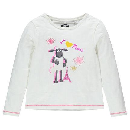 Tee-shirt manches longues print Shaun le Mouton