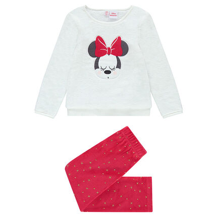 Pyjama en velours et sherpa avec patch Disney Minnie