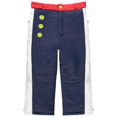 Pantalon de ski imperméable avec badges Smiley
