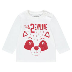 Tee-shirt manches longues en jersey avec panda printé