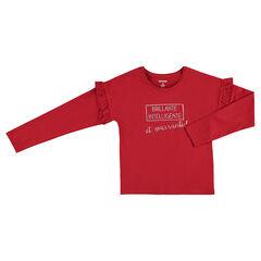 Junior - Tee-shirt manches longues en jersey avec message printé