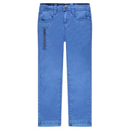 Pantalon chino en twill uni avec poches