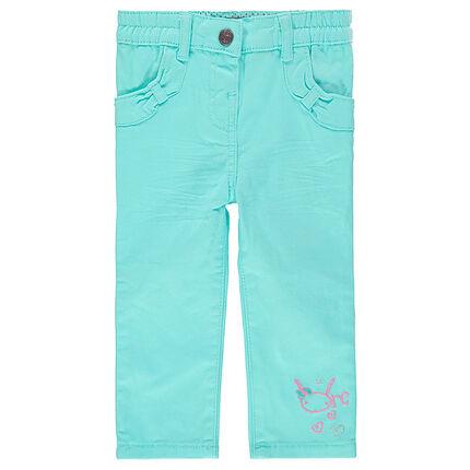 Pantalon slim avec poches noeuds