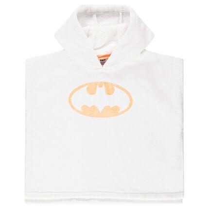 Cape de bain à capuche print logo ©Warner Batman