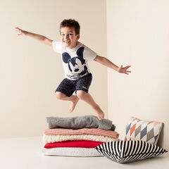 Pyjama court en jersey avec Mickey printé Disney
