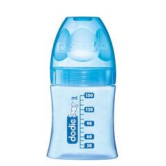 Biberon Initiation+ 150 ml tétine débit 1 - Bleu