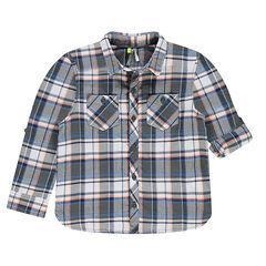 Chemise manches longues à carreaux et poches
