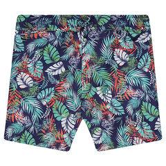 Junior - Short de bain imprimé tropical