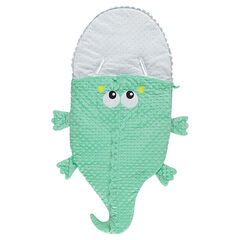 Nid d'ange forme crocodile en sherpa doublé jersey