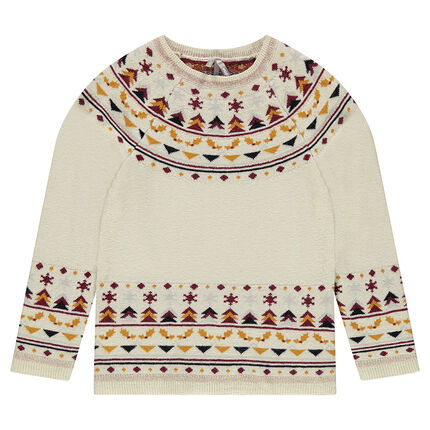 Pull en tricot avec motifs jacquard