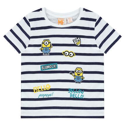 Tee-shirt manches courtes rayé print Les Minions