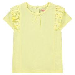 Tee-shirt à manches courtes volantées