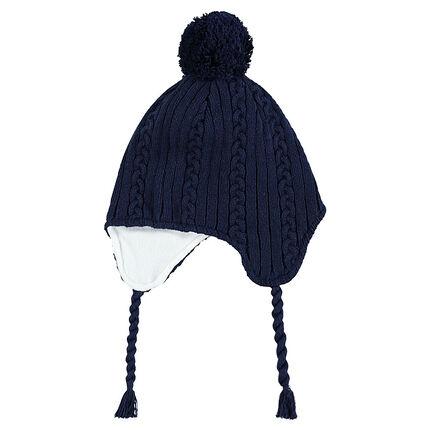 Bonnet péruvien en tricot doublé polaire avec pompon - Orchestra FR 340c4746ec6
