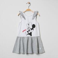 Robe à manches volantées et print Minnie Disney