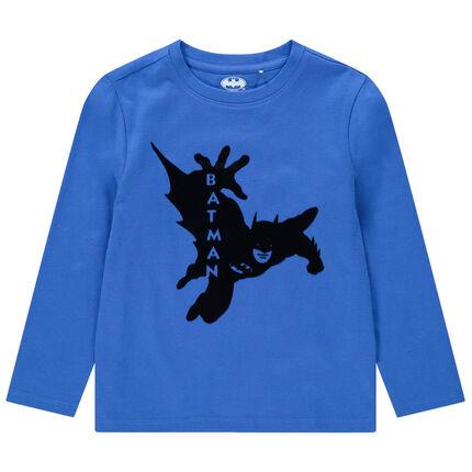 T-shirt manches longues en coton bio print Batman