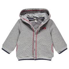 Veste à capuche en molleton avec doublure en sherpa